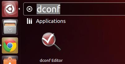 dconf editor in unity dash
