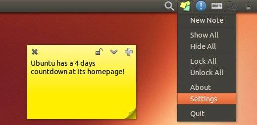 Sticky Notes Ubuntu 13.10