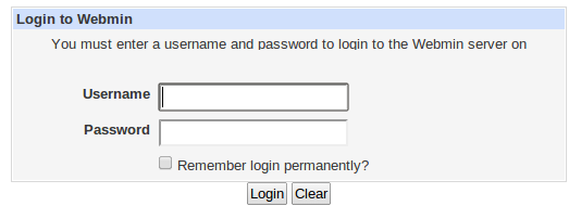 webmin login ubuntu server
