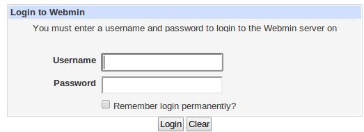 Webmin-login