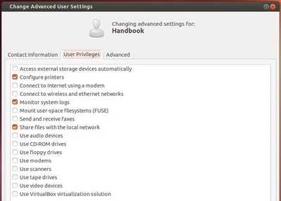 Advance User Settings