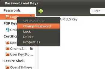Change Login Keyring Password