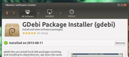 install gdebi package installer