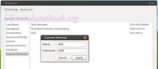 Add xkill shortcut