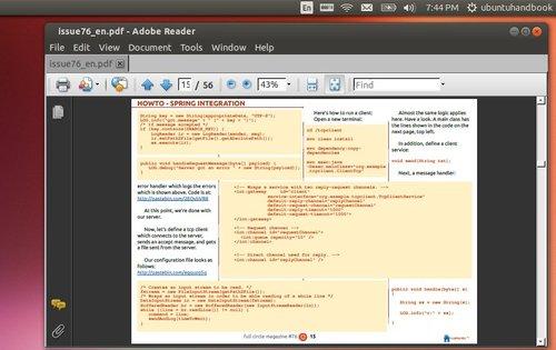 adobe reader on ubuntu 14.04