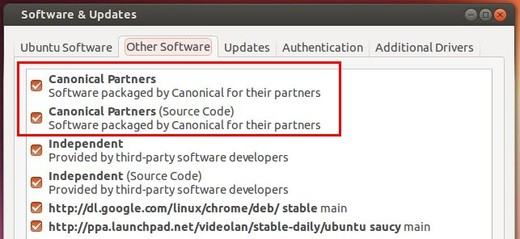 Enable canonical partners repository