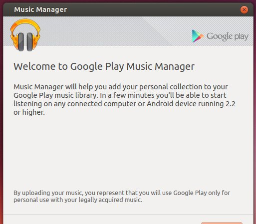 Google Music Manager Setup