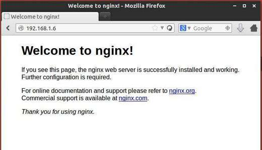 nginx is working ubuntu 13.10