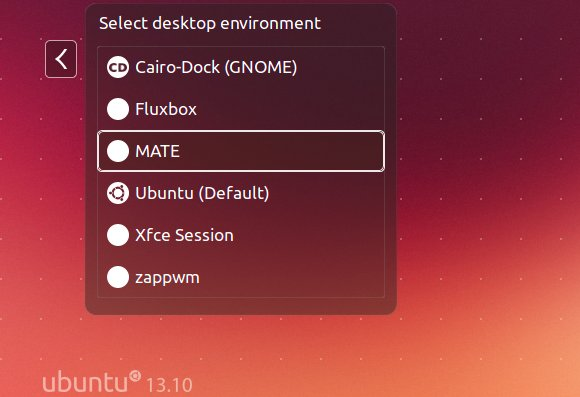 MATE login in ubuntu 13.10