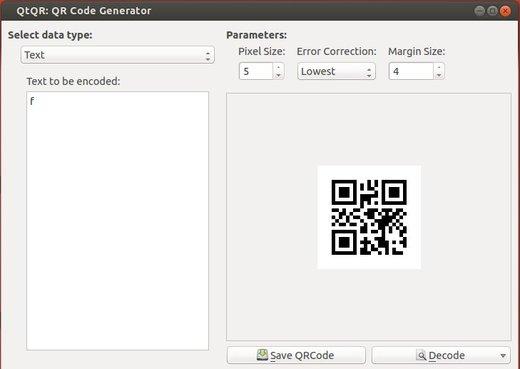 QtQR QR code generator & reader in Ubuntu 13.10