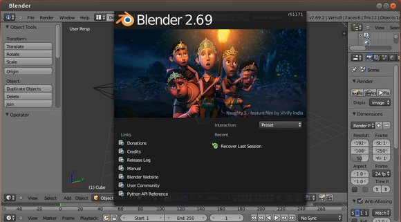 blender 2.69 in ubuntu 13.10