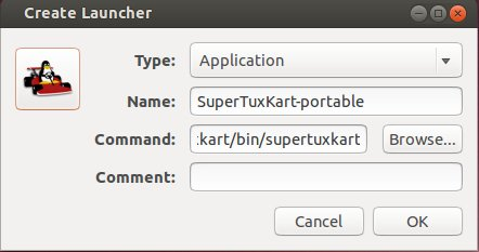 create launcher supertuxkart