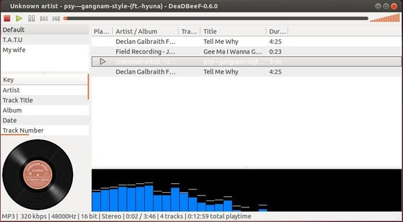 customized deabeef music player in Ubuntu 13.10