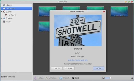 shotwell 0.15.1 in pear os 8