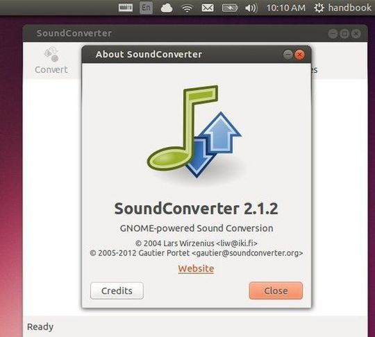 soundconverter 2.1.2 in ubunu 13.10