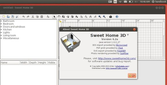 sweet home 3D 4.2 in Ubuntu 13.10
