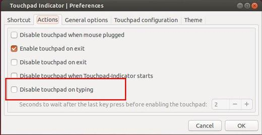disable touchpad while typing