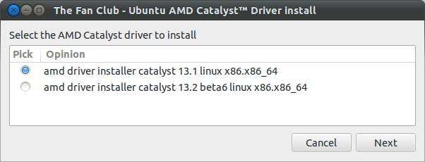 Choose AMD Catalyst driver to install