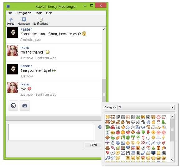 facebook client with emoji support