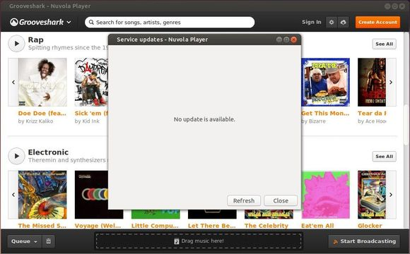 Nuvola Cloud Player service updater