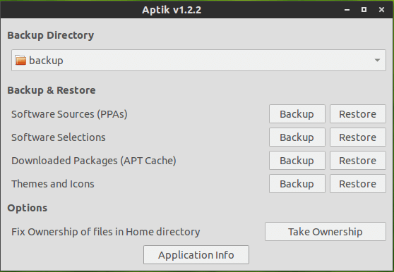 Aptick Ubuntu Backup Tool