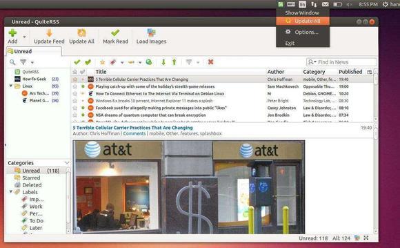 QuiteRSS Ubuntu