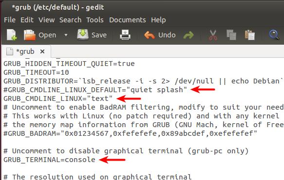 Ubuntu boot into text mode