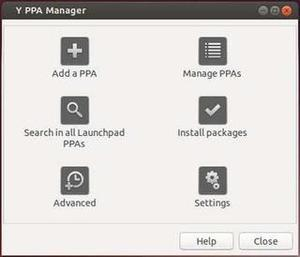 Y PPA Manager Main Window