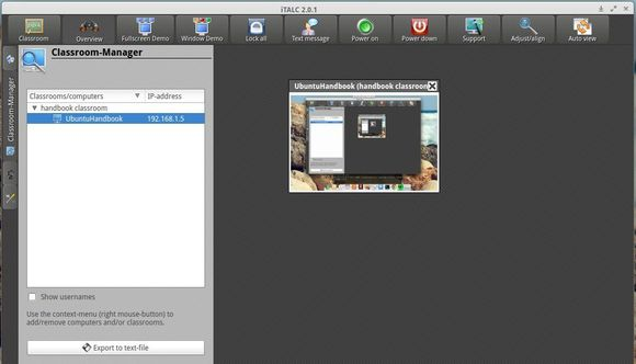 Install iTalc 2 in Ubuntu