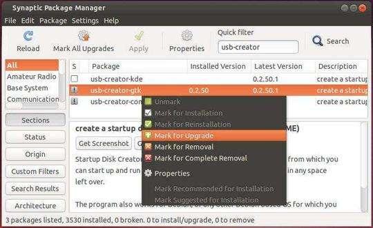 Upgrade USB Creator