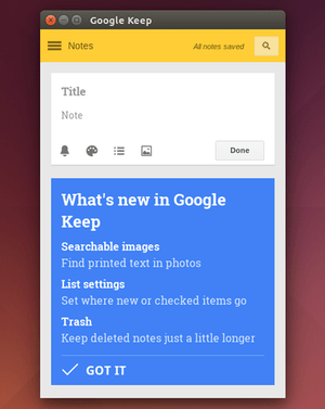 Install Google Keep in Ubuntu 14 04 Trusty | UbuntuHandbook