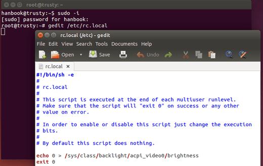 save screen brightness ubuntu 14.04