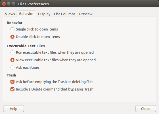 Ubuntu Delete files bypassing Trash
