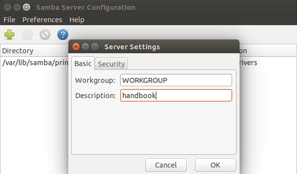 Samba Server Settings