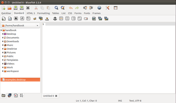 bluefish text editor ubuntu 14.04