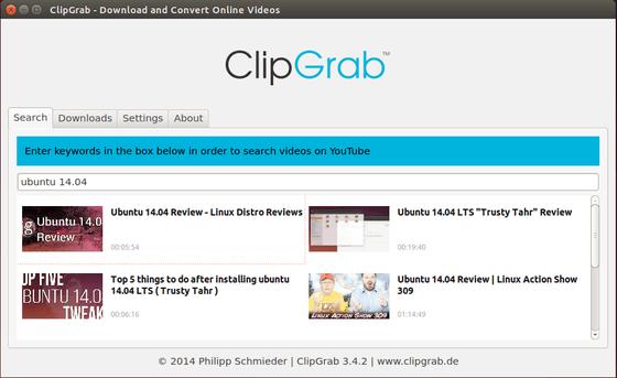 ClipGrab search video
