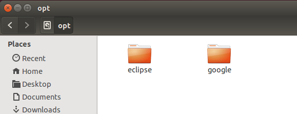 Eclipse in /opt/ for global use