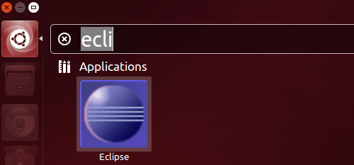 launch eclipse in ubuntu 14.04
