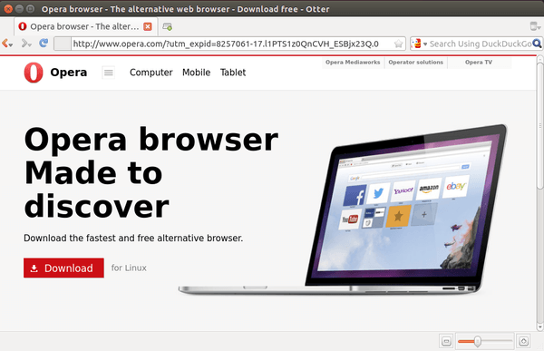 otter browser in ubuntu 14.04