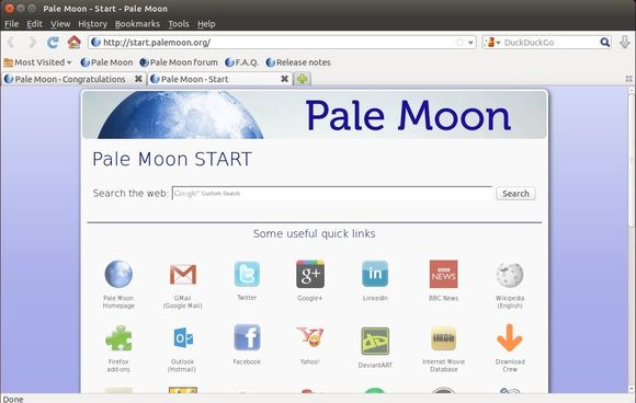 Pale Moon Browser in Ubuntu