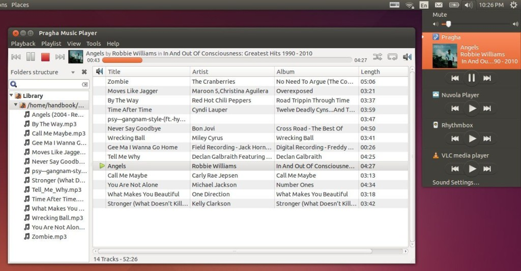Pragha Music Player in Ubuntu 14.04