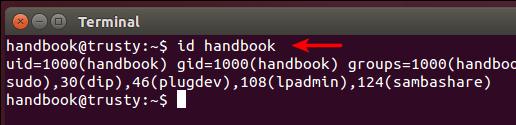 Get Ubuntu user id