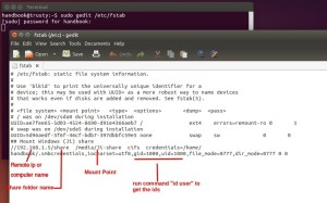 Map Network Share in Ubuntu