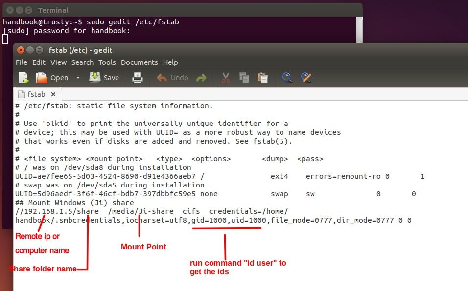 How To Map A Network Drive Onto Ubuntu 14 04 Permanently