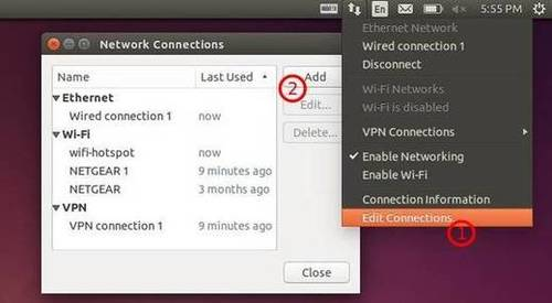 Edit Network Connections