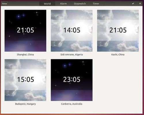 Gnome Clock in Ubuntu 14.04