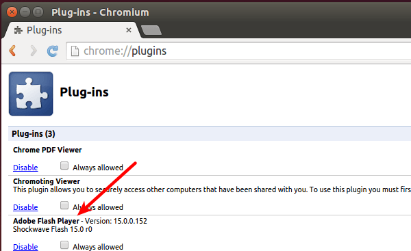 Chromium with Lastest Adobe Flash