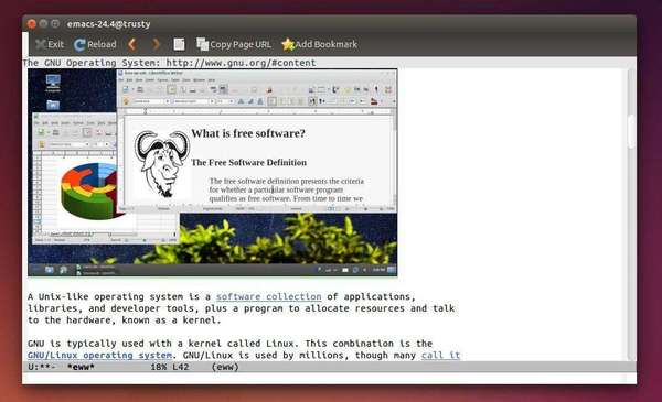 Emacs 24.4 in Ubuntu 14.04