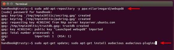 Install Audacious in Ubuntu From PPA