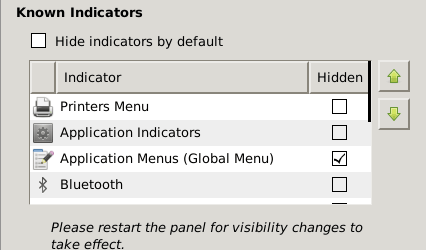 Disable Global Menu